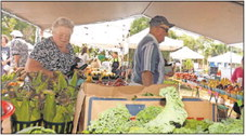shoppers at the Englewood Farmers Market